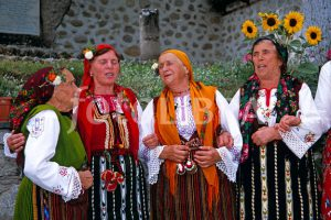 Dobarski Babi singing in Dobarsko, Bulgaria