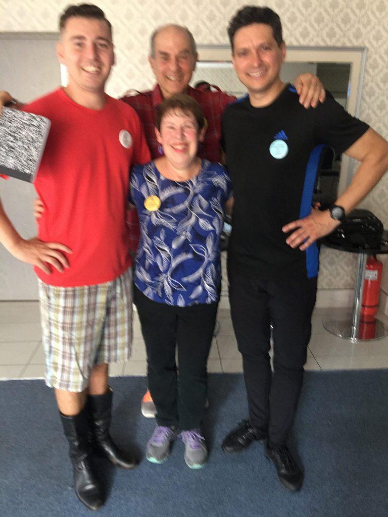 Jim, Bonnie, and our Sibiu dancer teachers